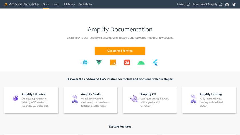 AWS Amplify Landing Page