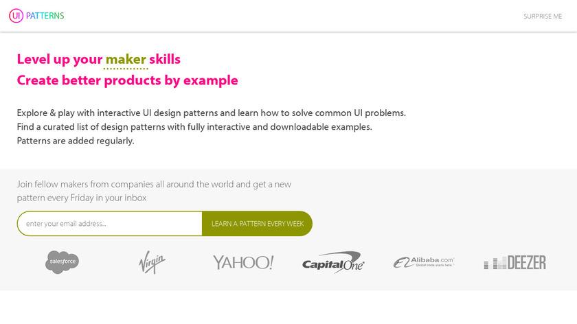 UI Patterns Landing Page