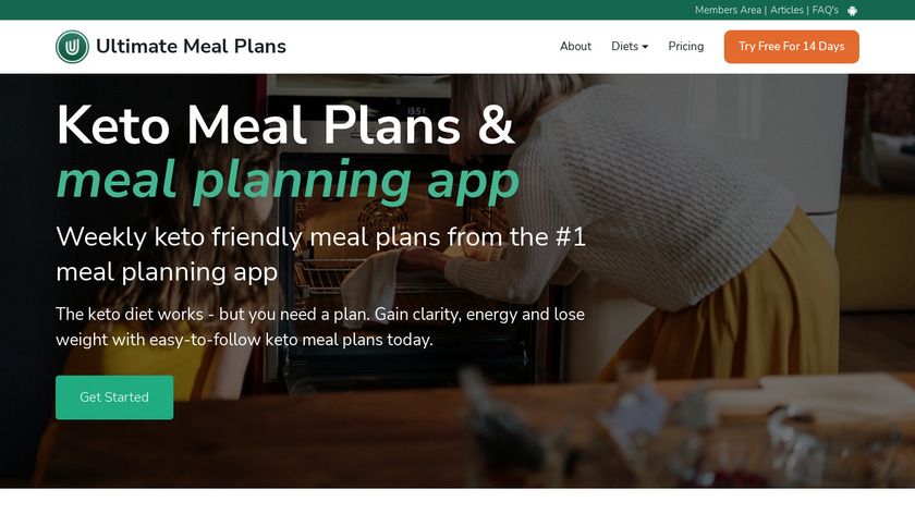 Keto Meal Plans Landing Page