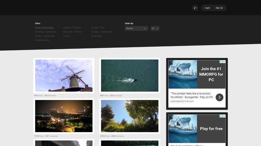 XStockvideo Landing Page