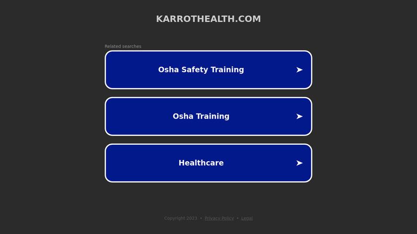 Karrot Fit Landing Page