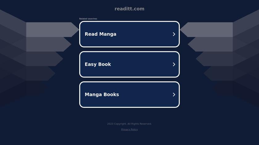 Readitt Landing Page