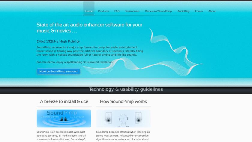 SoundPimp Landing Page