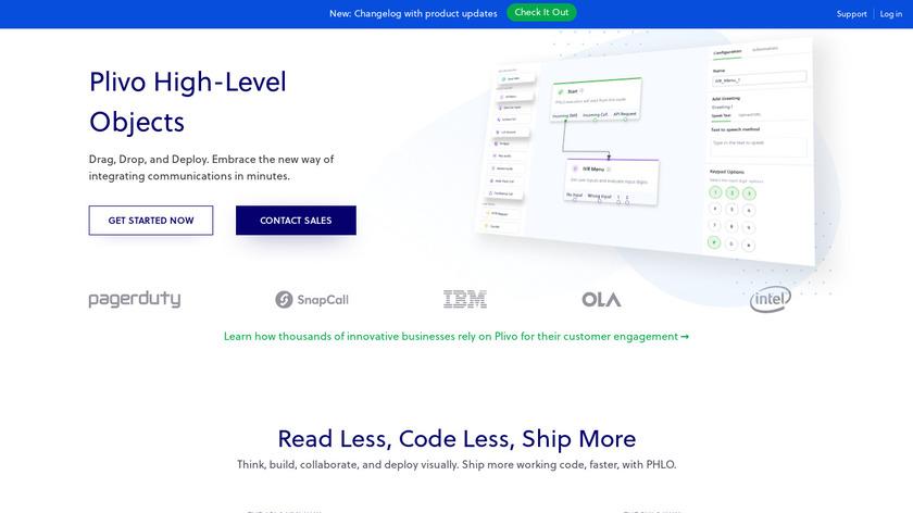 PHLO by PLIVO Landing Page