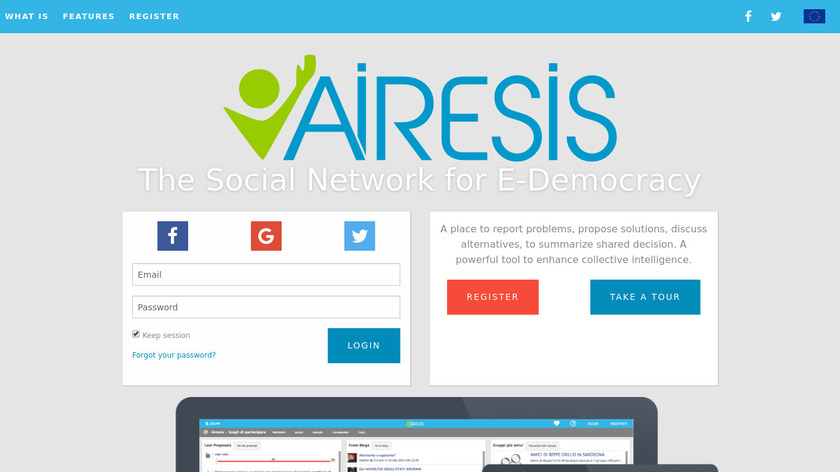 Airesis Landing Page