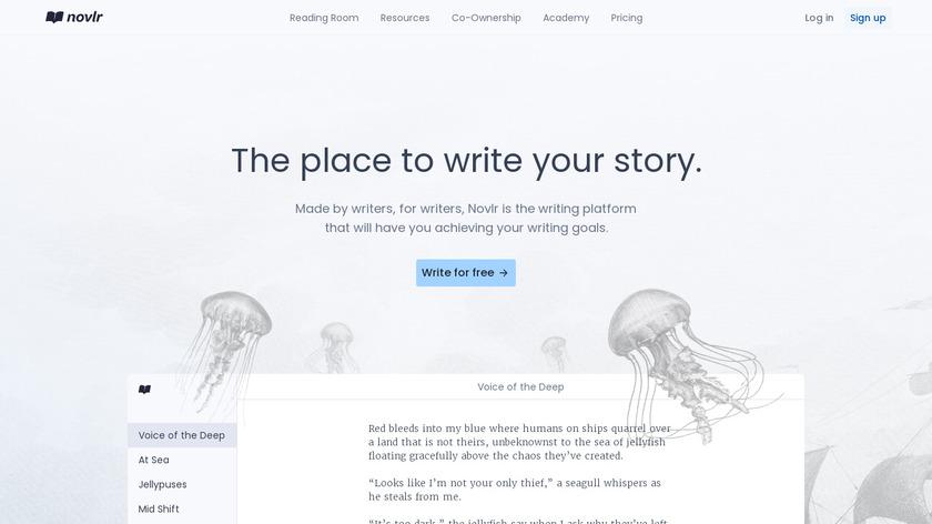 Novlr Landing Page