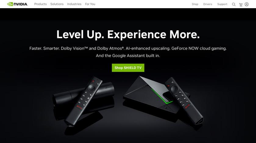 NVIDIA Shield TV Landing Page