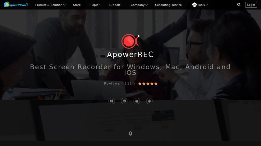 ApowerREC Landing Page