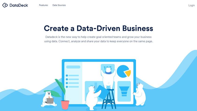 Datadeck Sheets Landing Page