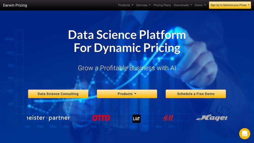 Darwin Pricing Landing Page
