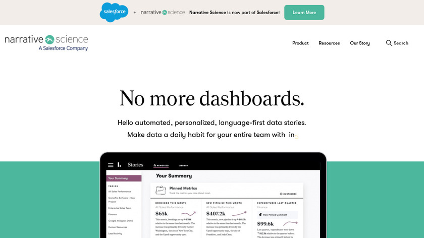 Narrative Science Landing Page