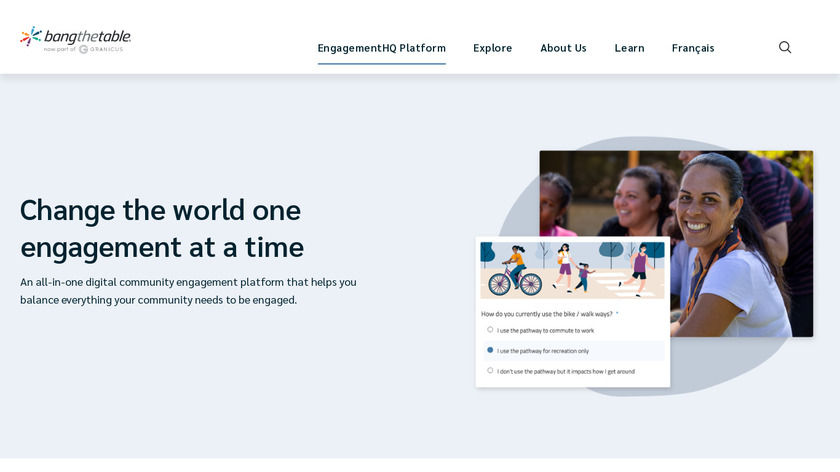 EngagementHQ Landing Page