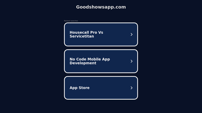 Goodshows Landing Page
