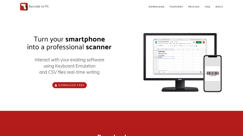 Barcode to PC: Wi-Fi scanner Landing Page