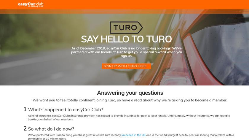 easyCar Club Landing Page