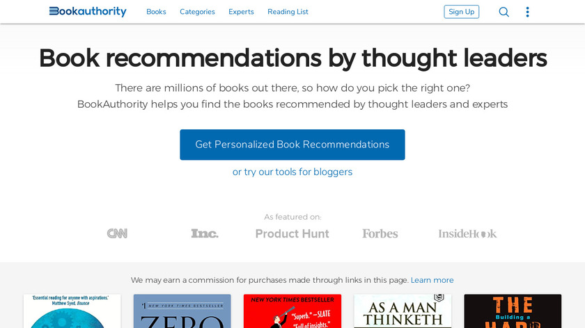 BookAuthority Landing Page