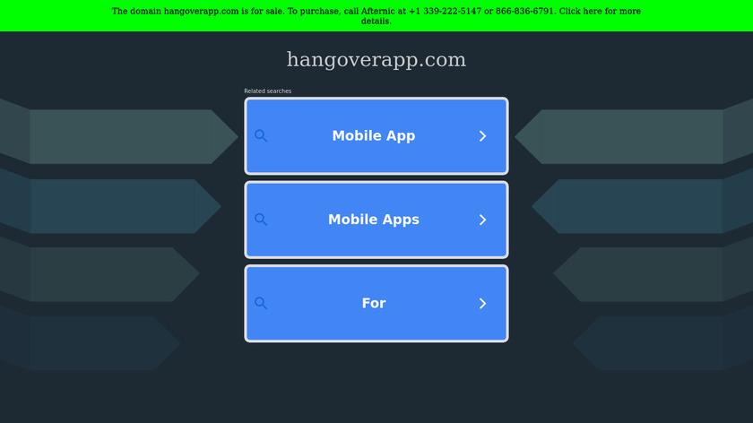 HangoverApp Landing Page