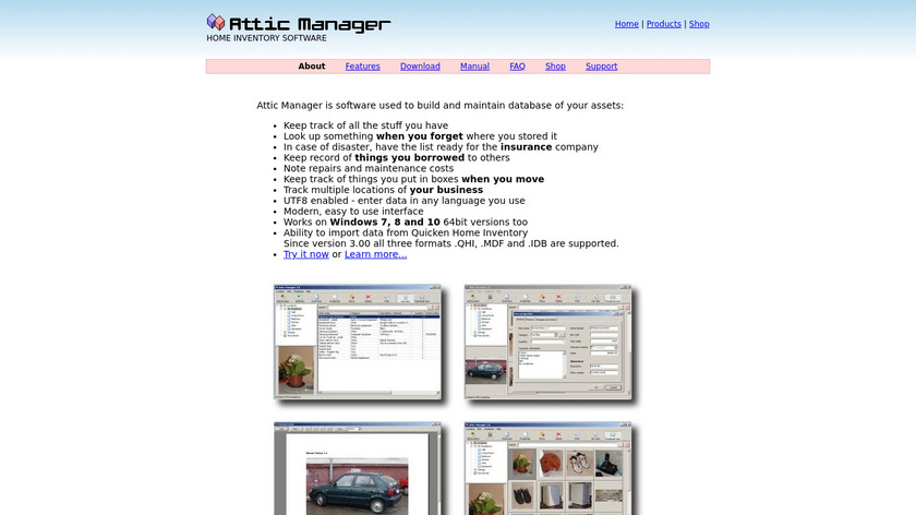 Attic Manager Landing Page