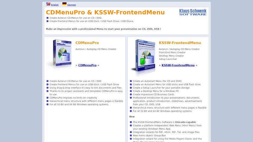 CDMenuPro Landing Page