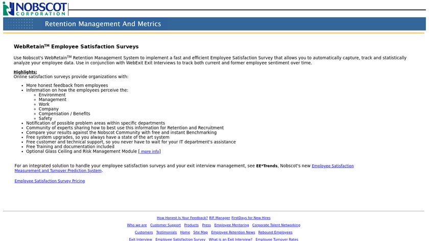 WebRetain Landing Page
