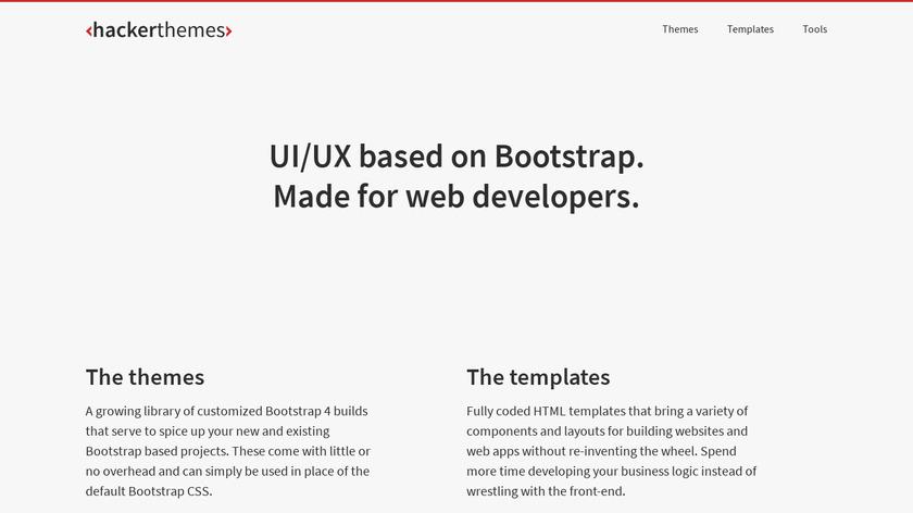 HackerThemes Landing Page
