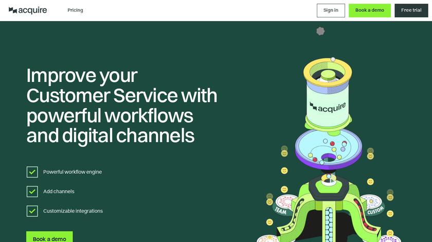 Acquire.io Landing Page