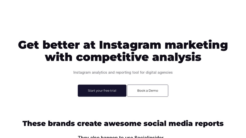 Instagram Analytics by Socialinsider Landing Page
