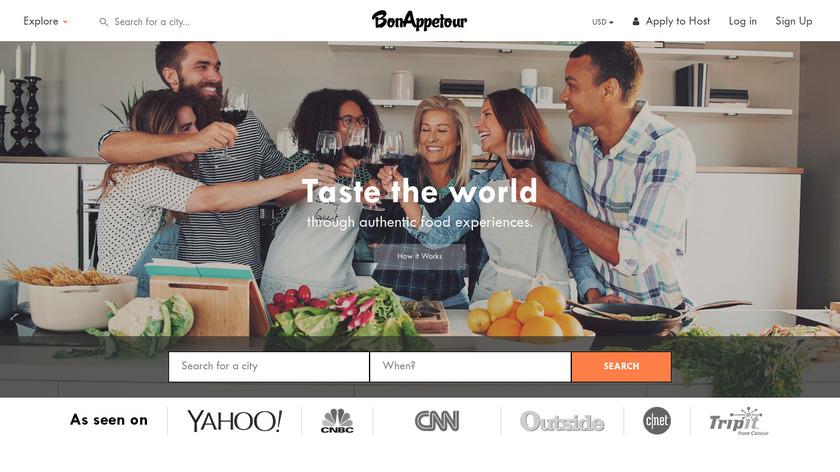 BonAppetour Landing Page