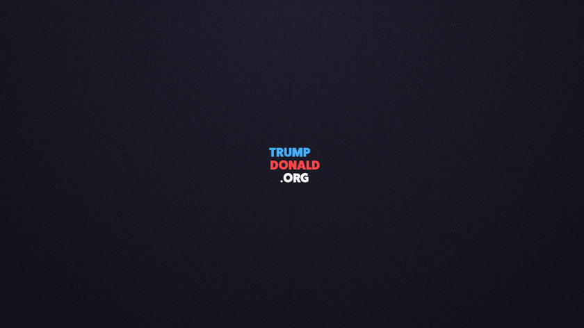 Trump Donald Landing Page