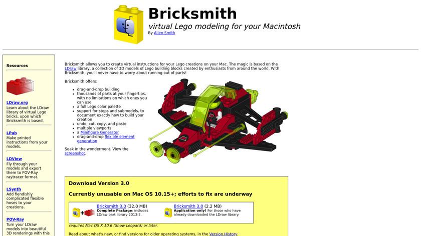 Bricksmith Landing Page