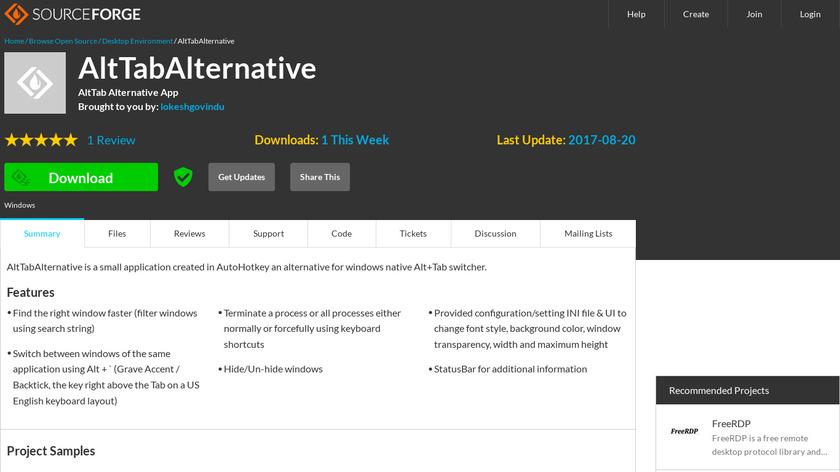 AltTabAlternative Landing Page