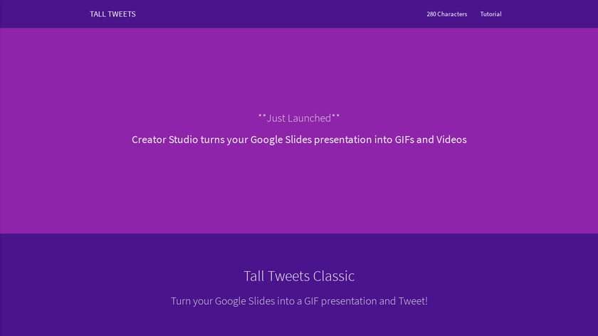 Tall Tweets for Google Slides Landing Page