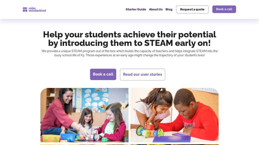 Robo Wunderkind Landing Page