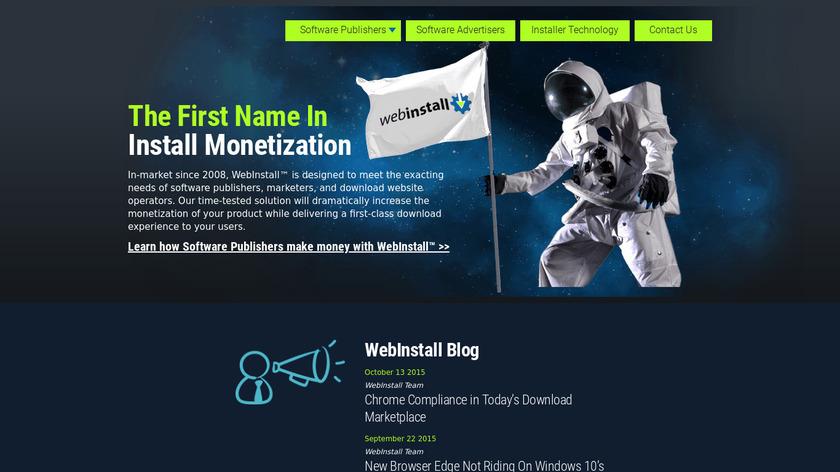 Webinstall Landing Page