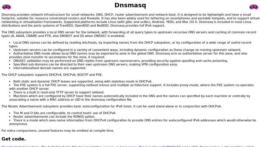 dnsmasq Landing Page