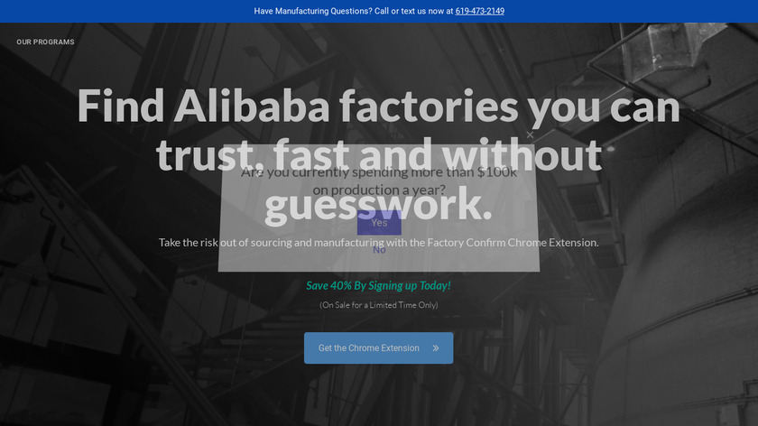 Factory Confirm by Sourcify Landing Page