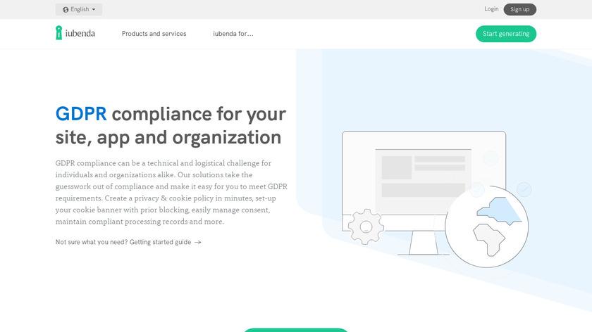 iubenda for GDPR Landing Page