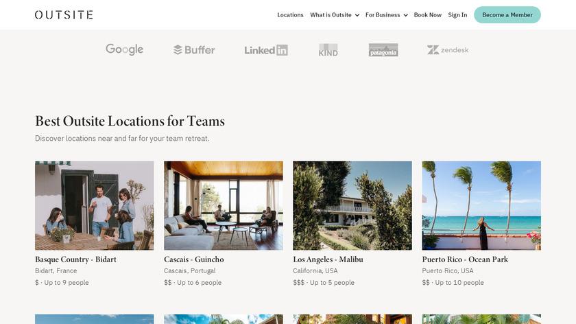 Outsite for Retreats Landing Page