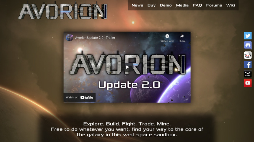 Avorion Landing Page