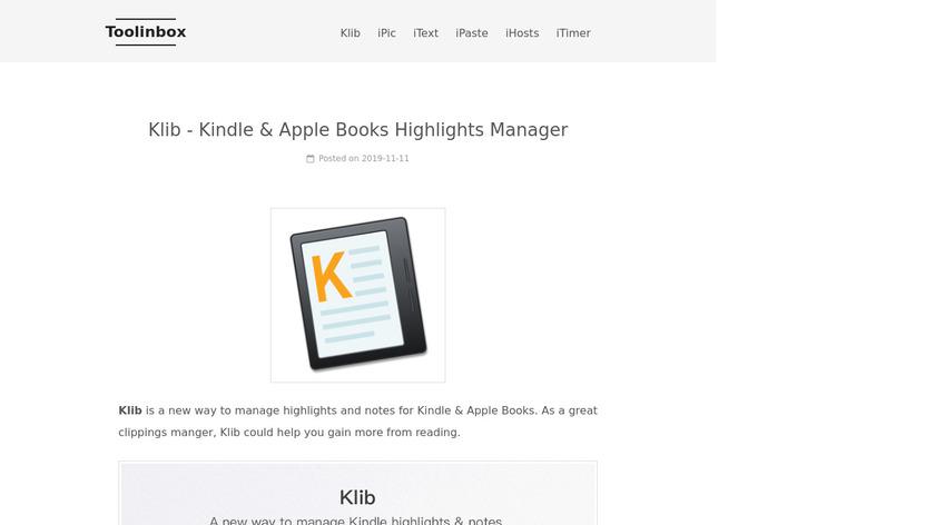 Klib Landing Page