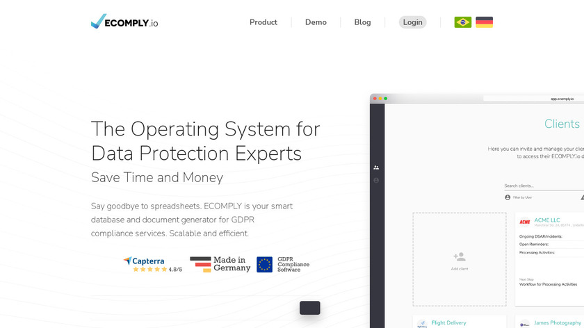 ECOMPLY.io Landing Page