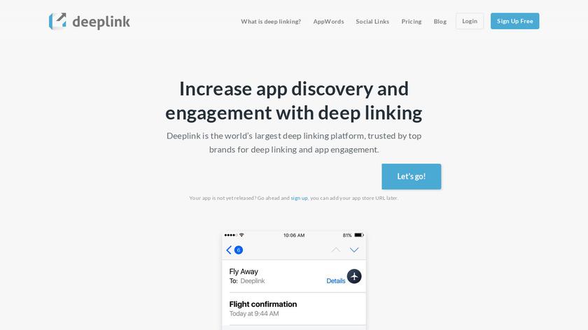 DeepLink Landing Page