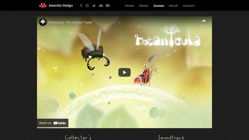 Botanicula Landing Page