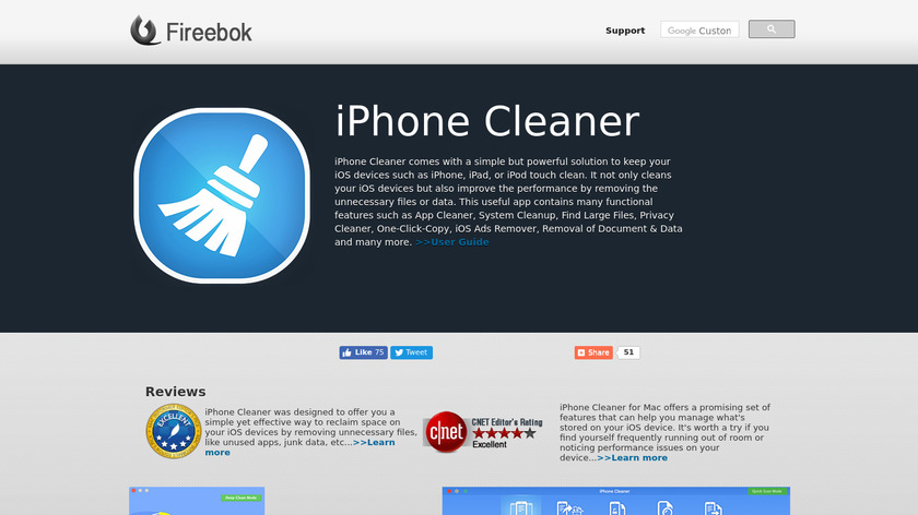 CleanMyPhone Landing Page