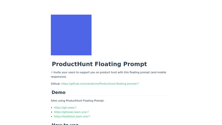 Floating Prompt Landing Page
