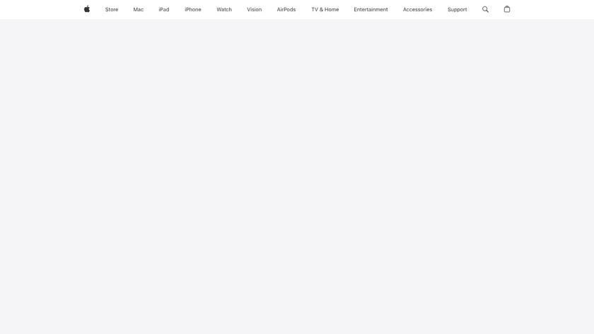 Apple TV Landing Page