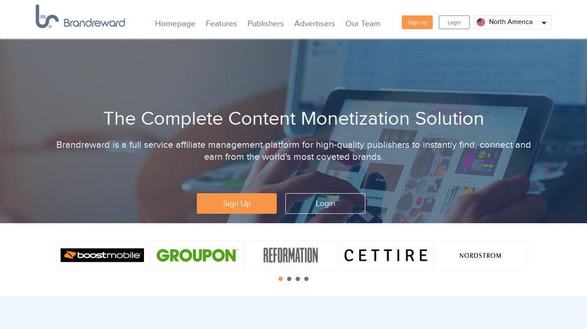 Brandreward.com Landing Page