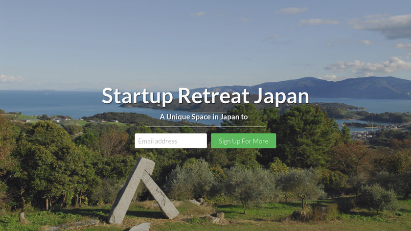 Startup Retreat Japan Landing Page