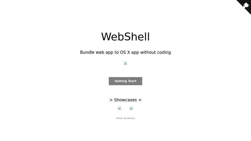 WebShell Landing Page