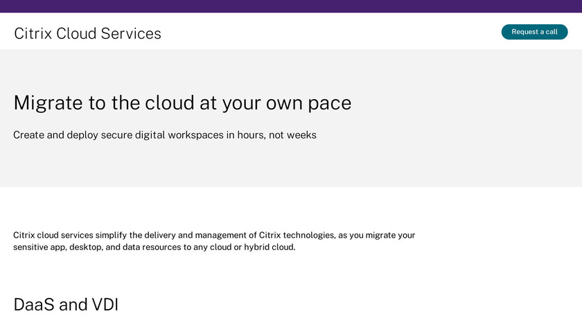 Citrix Workspace Cloud Landing Page